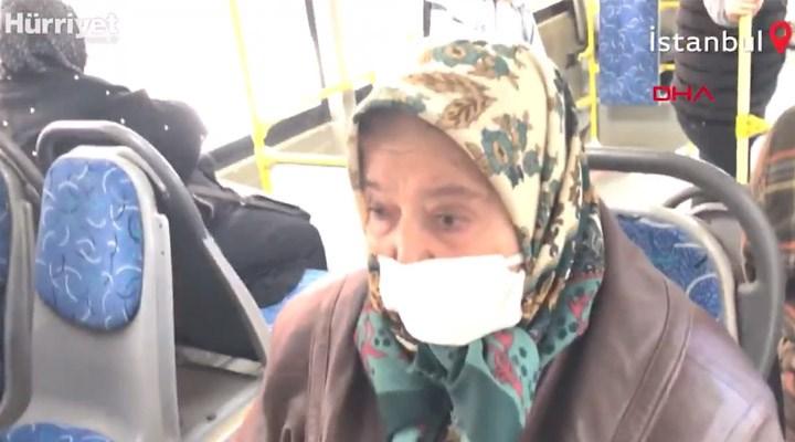 65 yaş üzeri olduğu için otobüsten indirilmek istenen yurttaş: Ben çalışmazsam açım