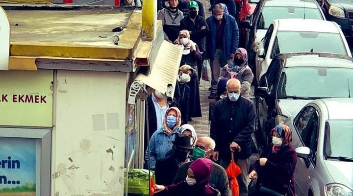 Halk Ekmek önünde yoksulluk kuyruğu