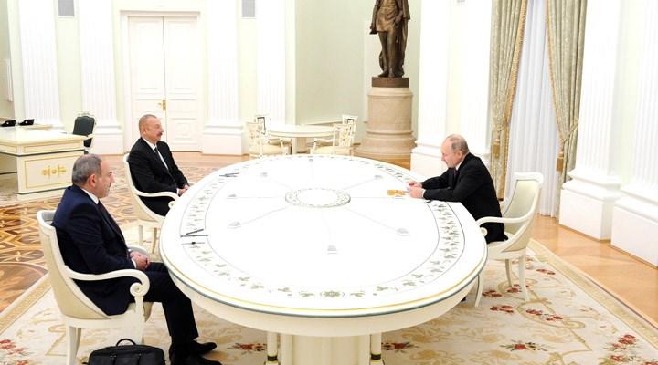Putin, Aliyev ve Paşinyan'ın görüşmesi sona erdi: Ortak çalışma grubu kurulacak