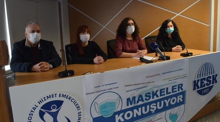 SES, 'maskeler konuşuyor' eylem ve etkinlik takvimini açıkladı