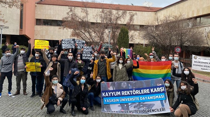 Ankara Üniversitesi öğrencilerinden Boğaziçililere destek