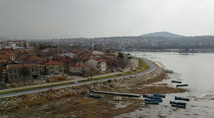 Beyşehir Gölü'nde kuraklık tehlikesi: 50 metre çekildi