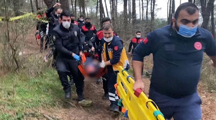 Ormanda başından silahla vurulmuş halde bulunan polis, hayatını kaybetti