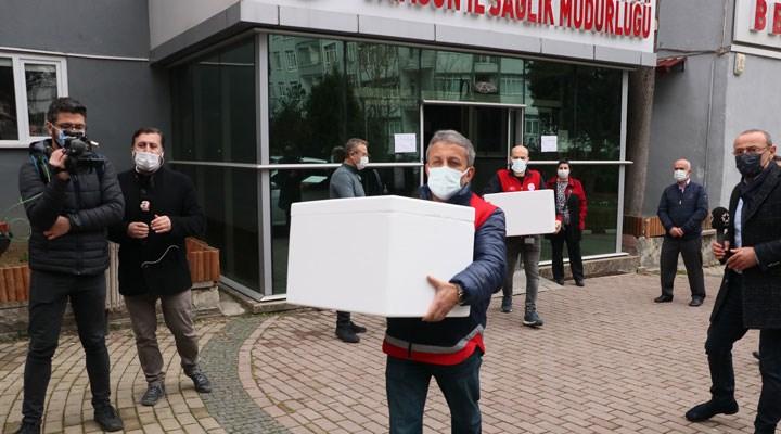 Sinovac aşılarının hastanelere dağıtımına başlandı
