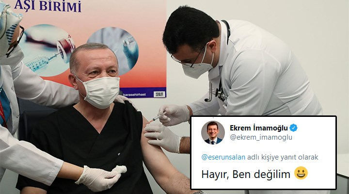 İmamoğlu'ndan espri: Erdoğan'a aşı yapan kişi o mu?