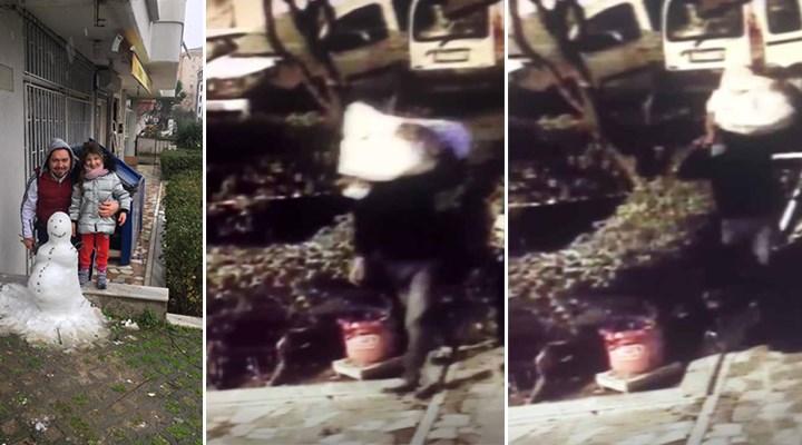 İstanbul'da kardan adamı çaldılar: Kızımın emeğiydi...