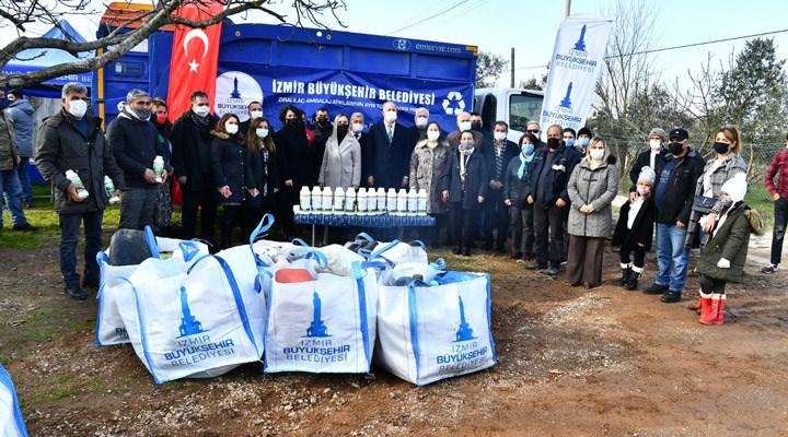 İzmir Büyükşehir Belediyesi'nin geri dönüşüm seferberliği sürüyor