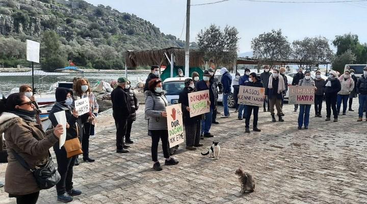 Kıyıkışlacık halkından ikinci liman tepkisi: 'İasos Antik Kenti cennet kalsın'