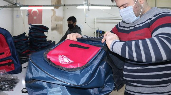 Çantalar depoda kaldı üretim tamamen durdu
