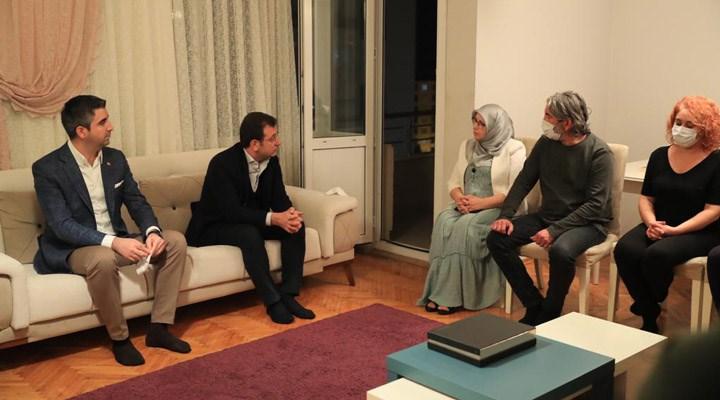 Ekrem İmamoğlu'ndan HDP'li Hüda Kaya'ya taziye ziyareti