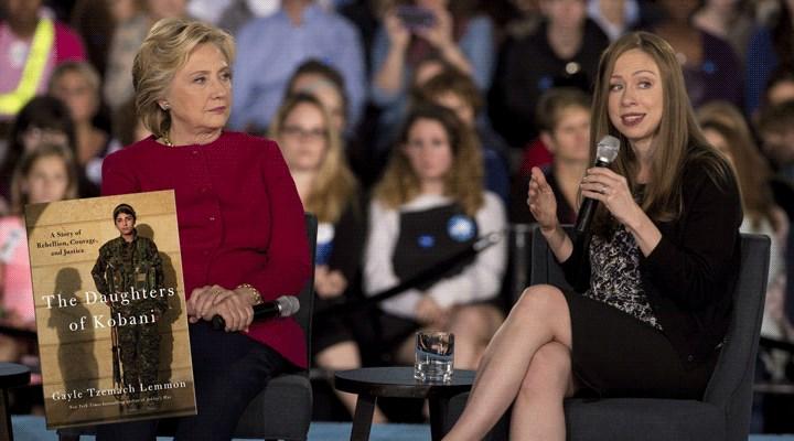 Hillary Clinton ve kızı, YPG'li kadınların dizisini yapacak