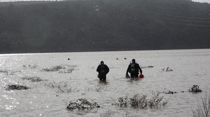 Çanakkale'de aracıyla baraj suyuna kapıldığını ihbar eden kişiyi arama çalışması başlatıldı