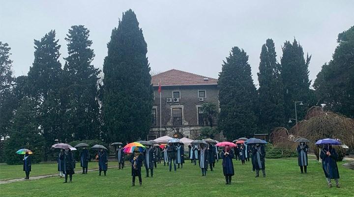 Galatasaray öğrencilerinden Boğaziçililere destek mesajı