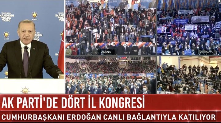 Koronavirüs tedbirlerinden muaf tek yer: AKP kongreleri