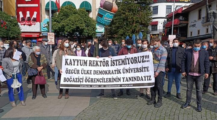 Antalya Emek ve Demokrasi Güçleri: Tutuklanan ve gözaltına alınan öğrenci arkadaşlarımız hemen serbest bırakılmalı