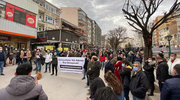 Eskişehir'de üniversite öğrencilerinden Boğaziçi direnişine destek: Direnenlere selam olsun