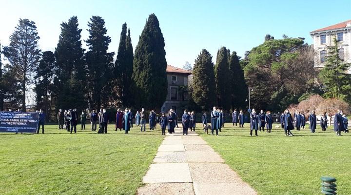 Boğaziçi akademisyenlerinin 'Melih Bulu' protestosu devam ediyor