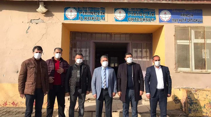 İlçe milli eğitim müdürü ile AKP ilçe başkanı okulları birlikte denetledi: 'Parti devletinin yeni örneği'