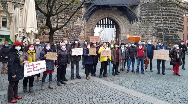 Köln'de Boğaziçi ile dayanışma eylemi
