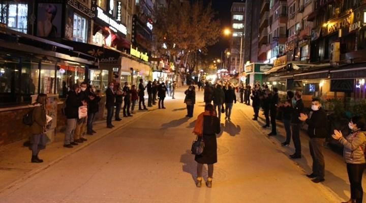 Ankara'da esnaftan alkışlı eylem