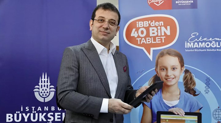 İBB'den öğrencilere 40 bin tablet