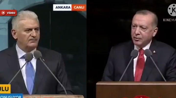 Erdoğan'ın konuşması, Binali Yıldırım'ın 4 yıl önce yaptığı konuşmanın aynısı çıktı