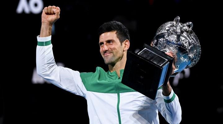 Avustralya Açık'ta tek erkekler şampiyonu Djokovic