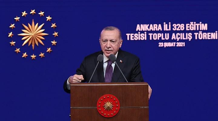 Erdoğan: Tüm bütçelerde aslan payını eğitim-öğretime ayırdık