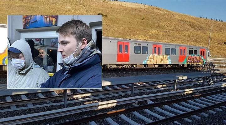 Ankara'da trenleri boyayan iki Rus gözaltına alındı