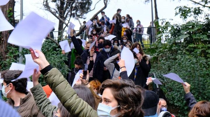 Boğaziçi Üniversitesi öğrencilerinden dilekçe eylemi