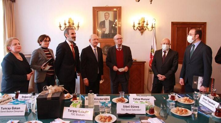 Kılıçdaroğlu'ndan TGC'ye ziyaret: Kimin gazeteci olduğuna gazeteciler karar vermeli