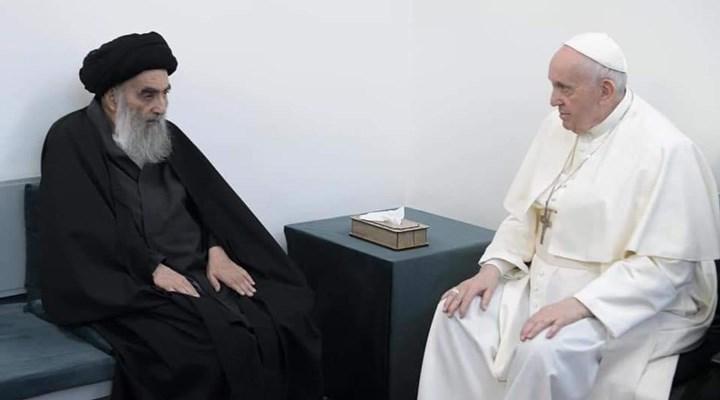 Papa, Irak'ta Şiilerin dini lideri El Sistani ile görüştü
