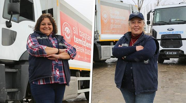 Odunpazarı'nda çöp kamyonu şoförlüğü yapan kadınlar: 'Erkek işi' diye bir şey yok