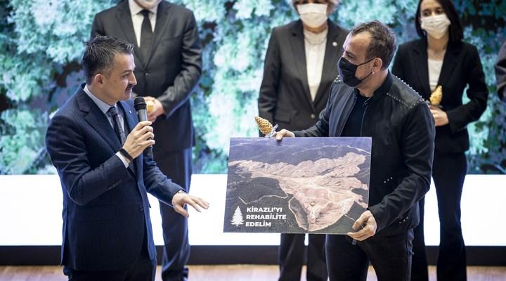 Haluk Levent Kazdağları'na 350 bin ağaç için söz istedi, Bakan söz verdi