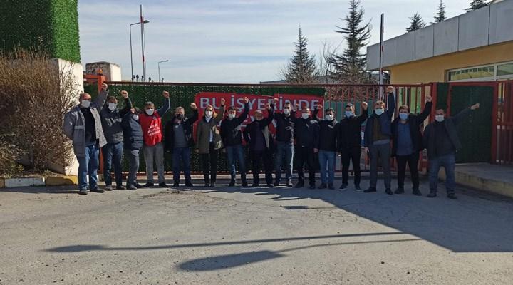 Sol Parti'den grevdeki Baldur işçilerine ziyaret