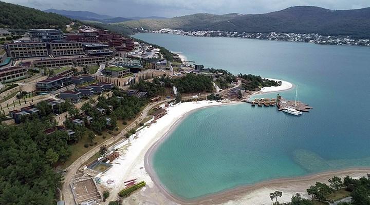 Bodrum'da plaja kireç tozu döken otele 265 bin TL ceza