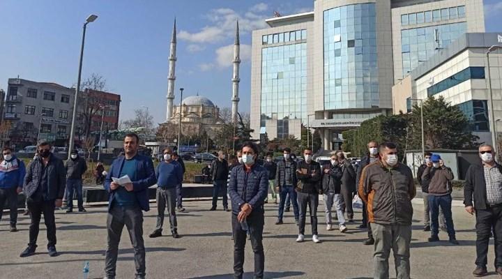 AKP'li Bayrampaşa Belediyesi'nde işçiler sefalet ücretine karşı eylemde