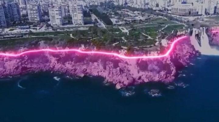 Antalya'da tepki çeken 'falezlerin ışıklandırılması' projesi durduruldu