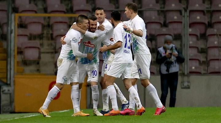 7 gollü karşılaşmada Rizespor, Galatasaray'ı mağlup etti