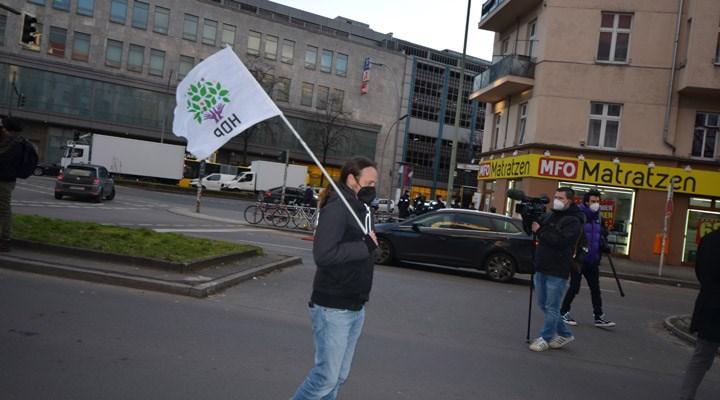 Berlin'de HDP'yi kapatma davası protesto edildi