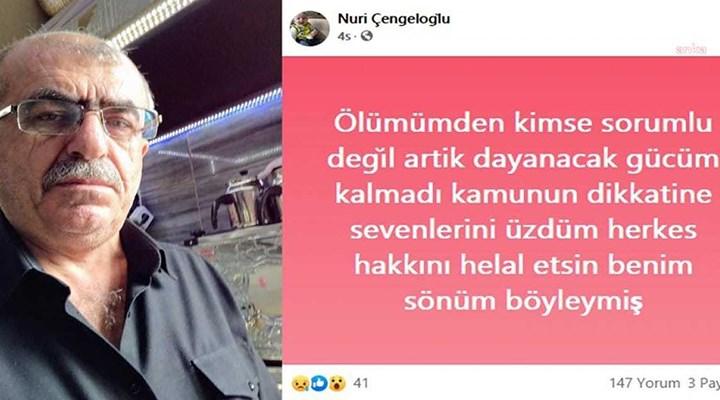 Ankara Kahveciler ve Esnaf Odası Başkanı Güven: Bu beşinci intiharımız