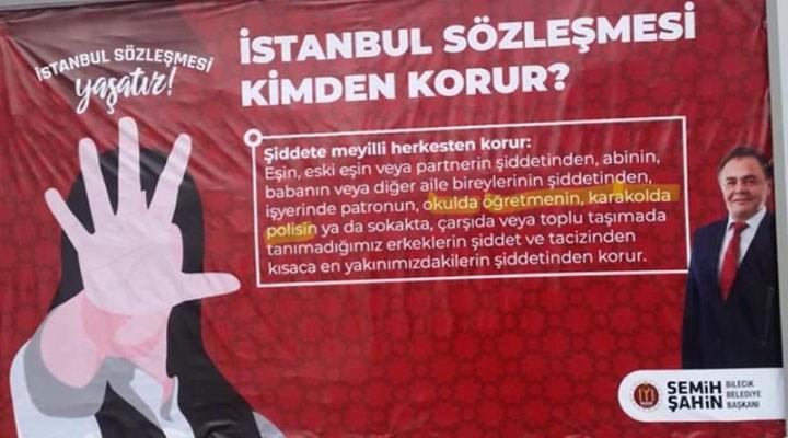Bilecik Belediye Başkanı Şahin'e İstanbul Sözleşmesi soruşturması!