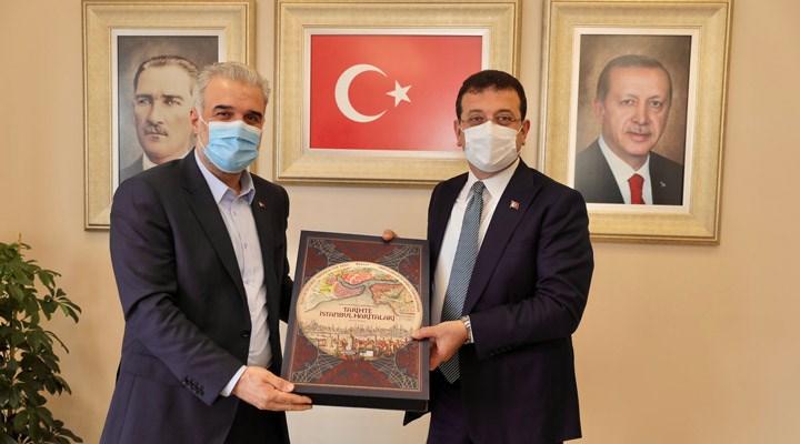 İmamoğlu'ndan AKP İstanbul İl Başkanı Kabaktepe'ye ziyaret: 'Başarılar diledim'