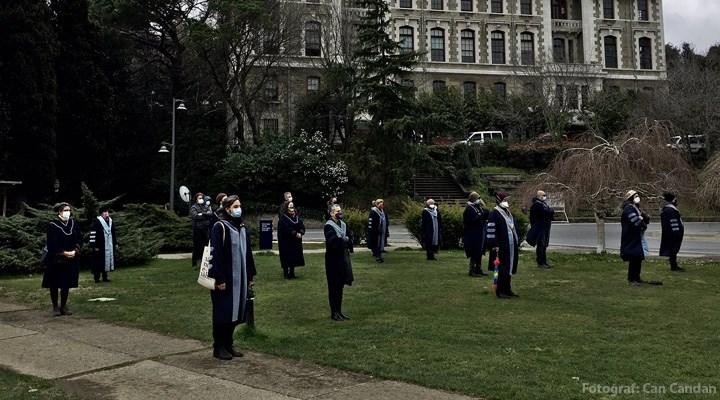 Boğaziçi Üniversitesi akademisyenleri 63'üncü kez rektörlüğe sırt döndü