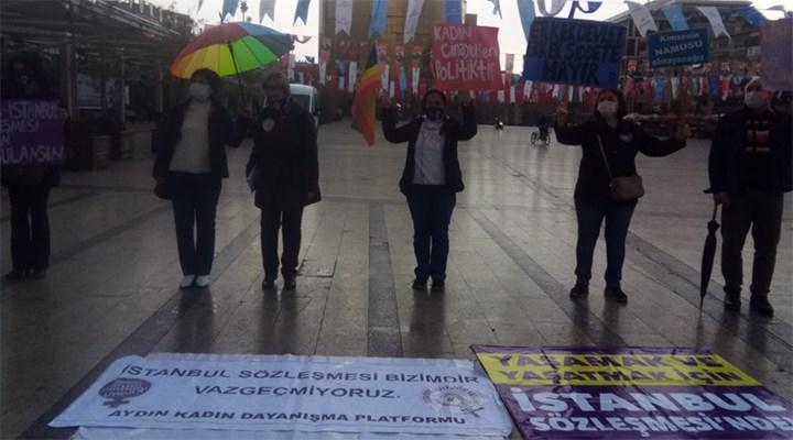 Aydınlı kadınlar: İstanbul Sözleşmesi'nden geri adım atmayacağız