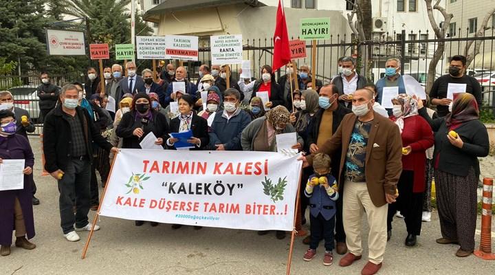 Kaleköy'de 20 bin ağaç kesilecek!