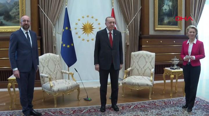 Erdoğan-AB liderleri görüşmesinde Ursula von der Leyen'e 'protokol koltuğu' verilmedi