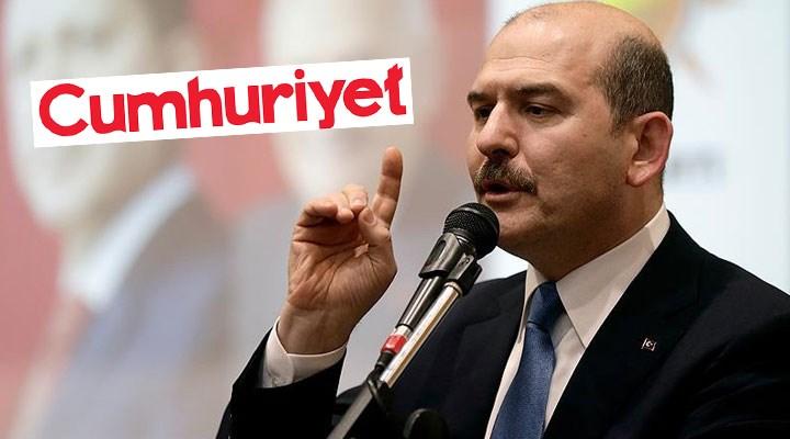 Soylu, Cumhuriyet gazetesini hedef aldı: Bu habercilik hastalıklı, bu çocuklar hasta