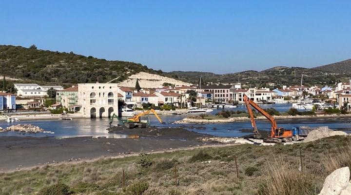 Alaçatı Port inşaatının durdurulması istendi