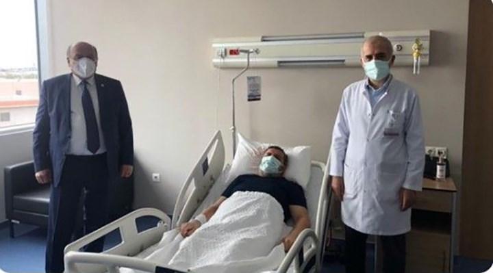 AKP'li vekilden koronavirüs tedavisi gören müftüye hastane ziyareti